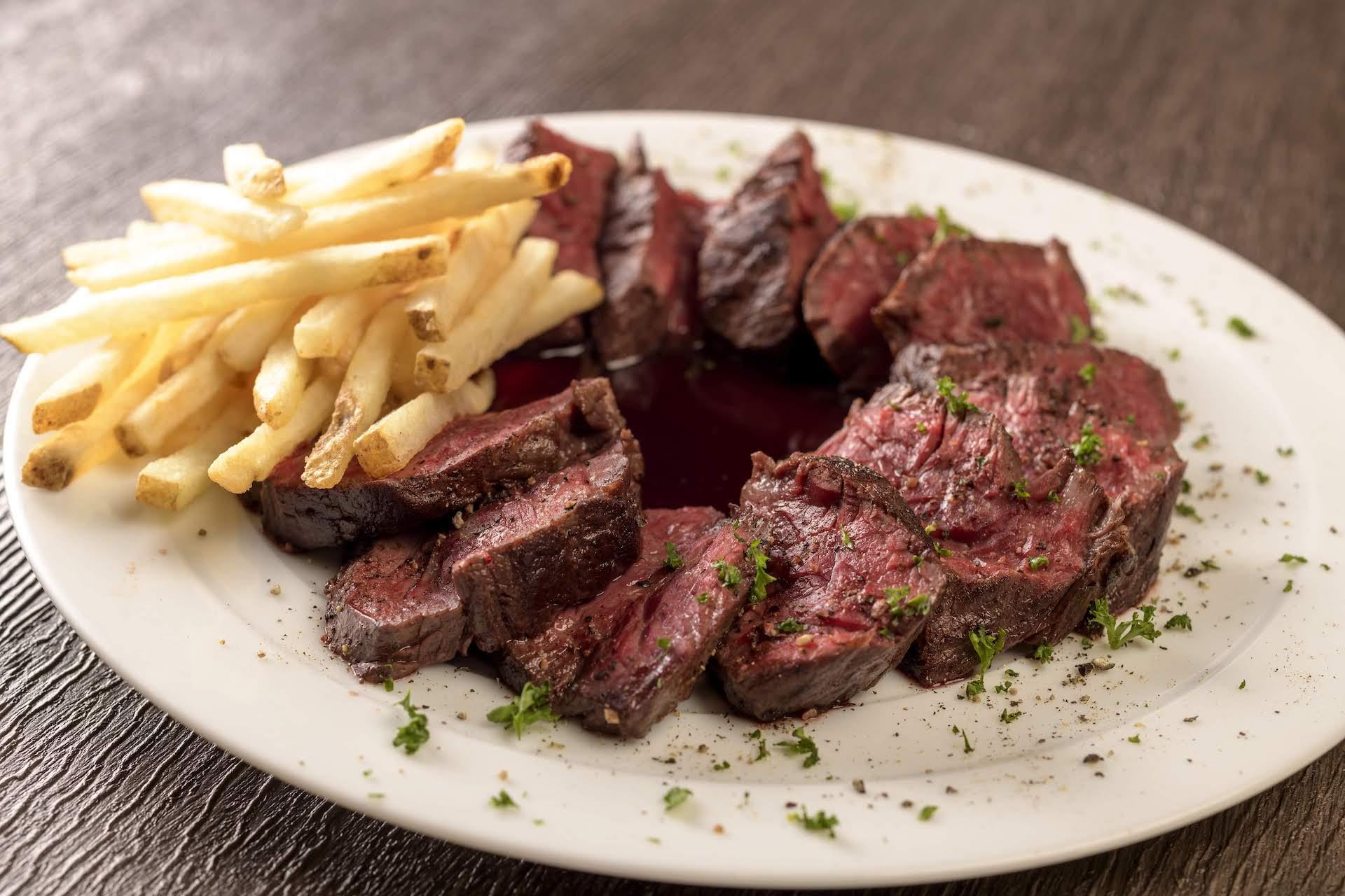 アンガス牛のバベットステーキ